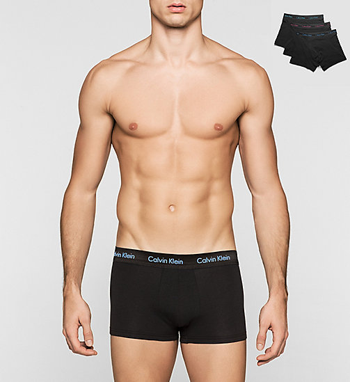 CALVINKLEIN 3 Pack Low Rise Trunks - Cotton Stretch - B/B WB-BRANDEIS/PERPETUA/AMOR - CALVIN KLEIN MULTIPACKS - main image