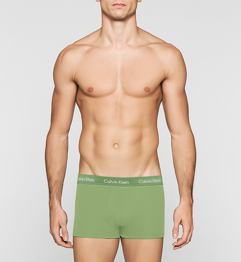CALVINKLEIN 3 Pack Low Rise Trunks - Cotton Stretch - BLACK - CALVIN KLEIN UNDERWEAR - detail image 2