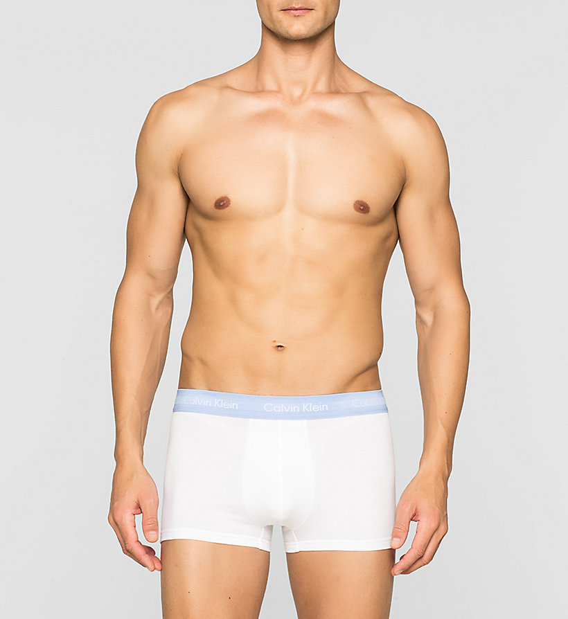 CALVINKLEIN 3 Pack Low Rise Trunks - Cotton Stretch - BLACK/COBALT W/BLUE - CALVIN KLEIN UNDERWEAR - detail image 2
