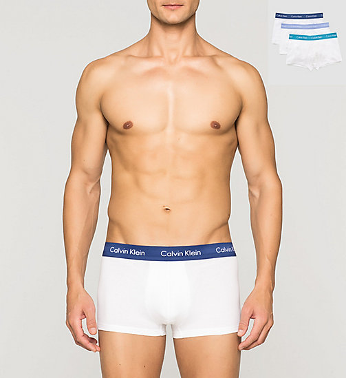 Boxer a vita bassa in confezione da 3 - Cotton Stretch - W-SILVER LAKE/DARK MIDNIGHT/P - CALVIN KLEIN  - immagine principale
