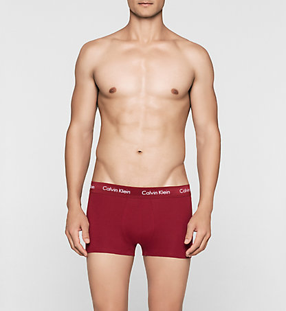 CALVIN KLEIN 3 Pack Low Rise Trunks - Cotton Stretch 0000U2664GYLR