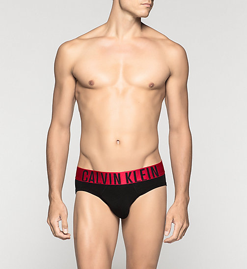 CALVINKLEIN Hip Briefs - Power Red - BLACK - CALVIN KLEIN BRIEFS - main image