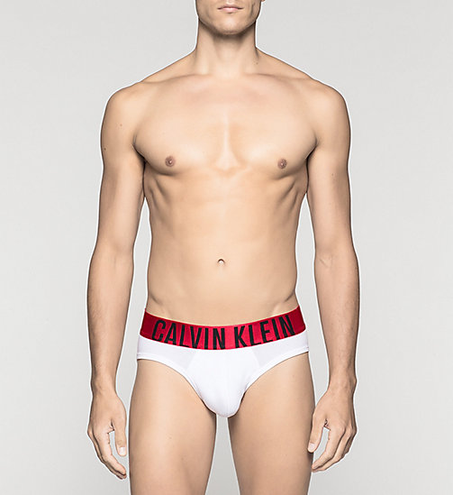 CALVINKLEIN Hip Briefs - Power Red - WHITE - CALVIN KLEIN BRIEFS - main image