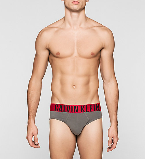 CALVINKLEIN Hip Briefs - Power Red - GREY SKY - CALVIN KLEIN BRIEFS - main image