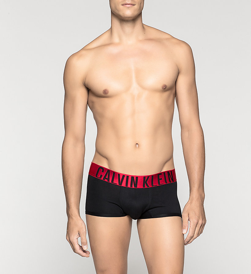 CALVINKLEIN Low Rise Trunks - Power Red - BLACK - CALVIN KLEIN UNDERWEAR - main image
