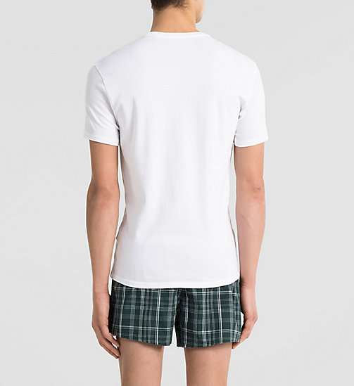 CALVINKLEIN T-shirt - Liquid Cotton - WHITE - CALVIN KLEIN NIGHTWEAR & LOUNGEWEAR - detail image 1