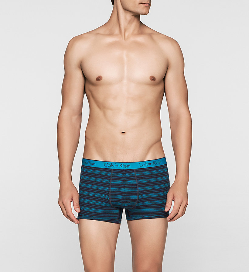 CALVINKLEIN Trunks - CK One - REFLECTION STRIPE BLUE SHELL - CALVIN KLEIN MEN - main image
