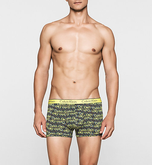 CALVINKLEIN Trunks - CK One - 3D LOGO LIGHTENING YELLOW - CALVIN KLEIN TRUNKS - main image