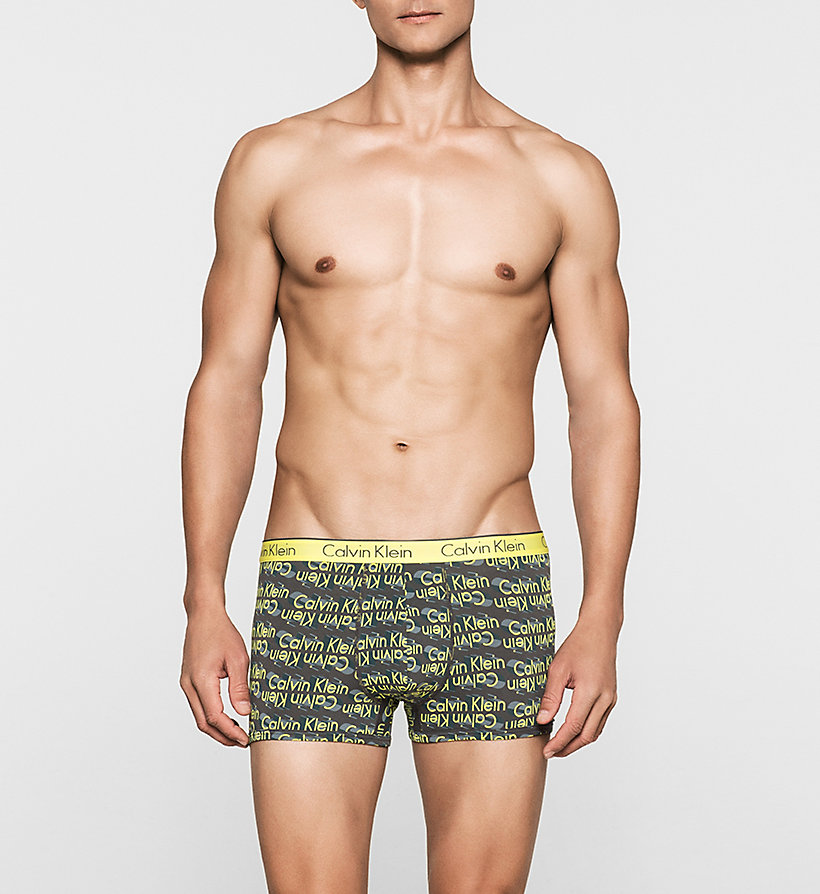 CALVINKLEIN Trunks - CK One - 3D LOGO LIGHTENING YELLOW - CALVIN KLEIN MEN - main image