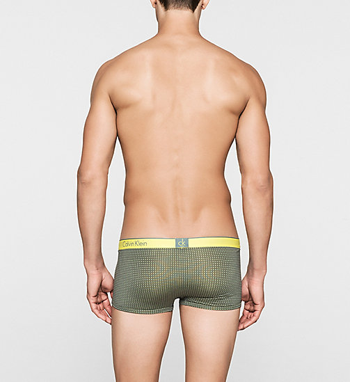 CALVINKLEIN Low Rise Trunks - CK One - FRANK PRINT EARTH GREEN - CALVIN KLEIN TRUNKS - detail image 1