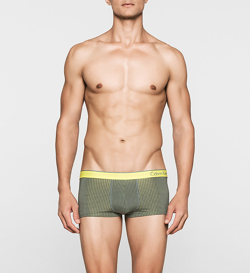 CALVINKLEIN Low Rise Trunks - CK One - FRANK PRINT EARTH GREEN - CALVIN KLEIN UNDERWEAR - main image