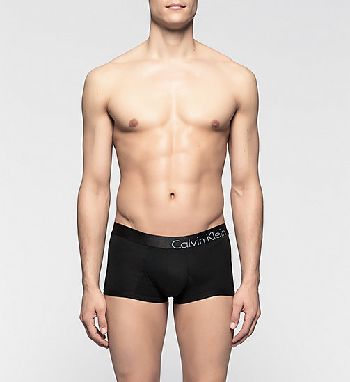 CALVINKLEIN Low Rise Trunks - CK Bold - BLACK - CALVIN KLEIN MEN - main image
