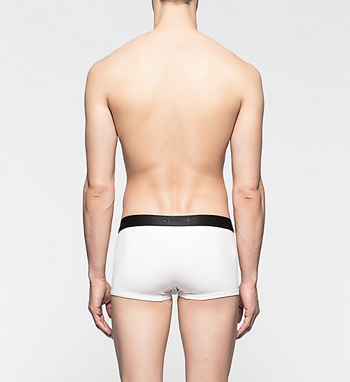 CALVINKLEIN Low Rise Trunks - CK Bold - WHITE - CALVIN KLEIN TRUNKS - detail image 1