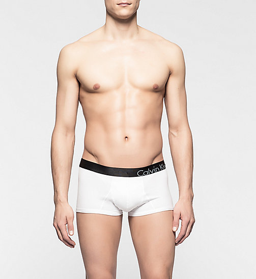 CALVINKLEIN Low Rise Trunks - CK Bold - WHITE - CALVIN KLEIN MEN - main image