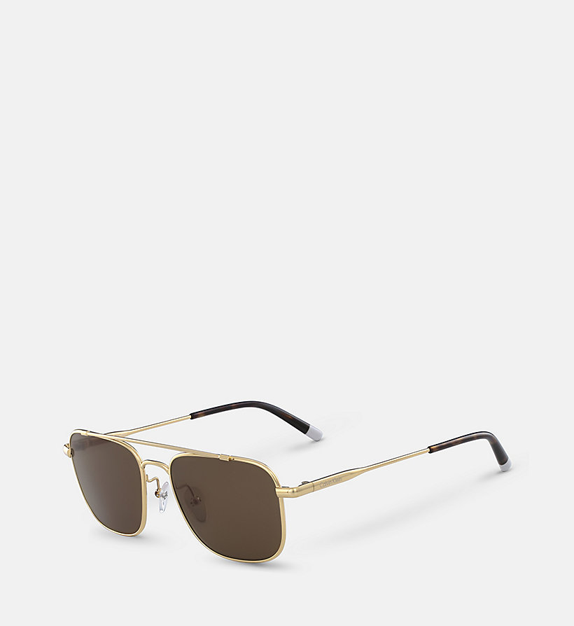 CALVINKLEIN Rectangle Sunglasses CK2150S - GUNMETAL - CALVIN KLEIN SHOES & ACCESSORIES - detail image 1