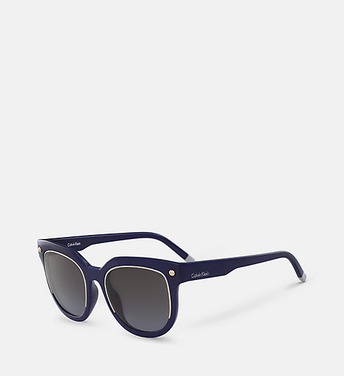 CALVINKLEIN Rectangle Sunglasses CK3202S - BLACK - CALVIN KLEIN SUNGLASSES - detail image 1