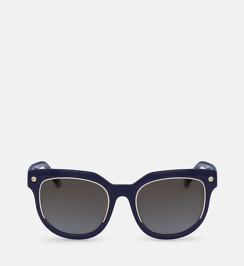 CALVINKLEIN Rectangle Sunglasses CK3202S - BLACK - CALVIN KLEIN SHOES & ACCESSORIES - main image