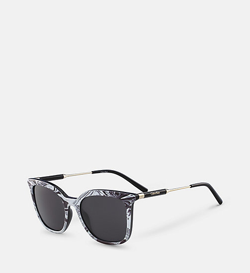 CALVINKLEIN Rectangle Sunglasses CK3204S - BLACK - CALVIN KLEIN SUNGLASSES - detail image 1