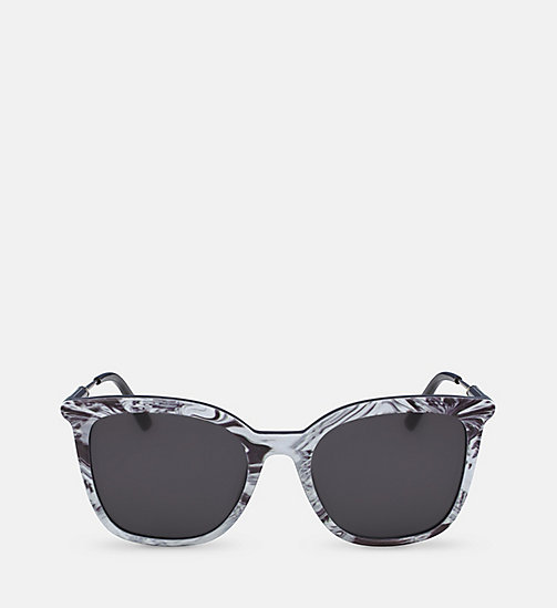 CALVINKLEIN Rectangle Sunglasses CK3204S - BLACK - CALVIN KLEIN SUNGLASSES - main image