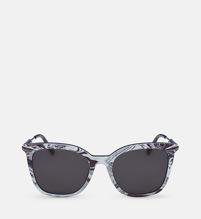 CALVINKLEIN Rectangle Sunglasses CK3204S - BLACK - CALVIN KLEIN SHOES & ACCESSORIES - main image