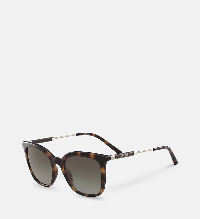 CALVINKLEIN Rectangle Sunglasses CK3204S - BLACK - CALVIN KLEIN SHOES & ACCESSORIES - detail image 1