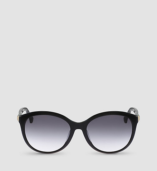 Round Sunglasses CK4291S - BLACK FRAME GRAD GREY LENS - CALVIN KLEIN SHOES & ACCESSORIES - detail image 1