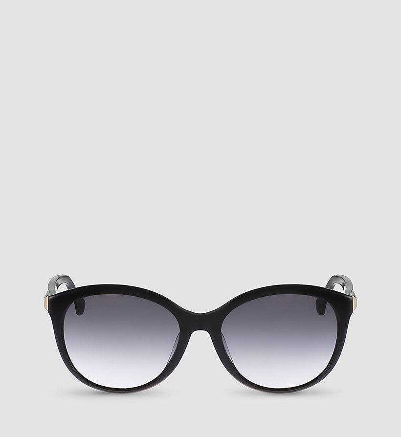 CALVINKLEIN Round Sunglasses CK4291S - BLACK FRAME GRAD GREY LENS - CALVIN KLEIN SHOES & ACCESSORIES - detail image 1
