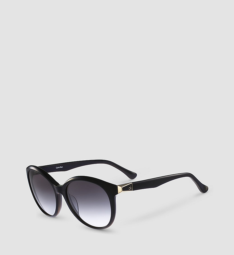 CALVINKLEIN Round Sunglasses CK4291S - BLACK FRAME GRAD GREY LENS - CALVIN KLEIN SHOES & ACCESSORIES - main image