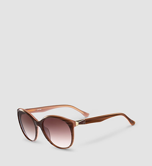 CALVINKLEIN Round Sunglasses CK4291S - STRIPED BROWN ROSE/GRAD ROSE - CALVIN KLEIN SUNGLASSES - main image
