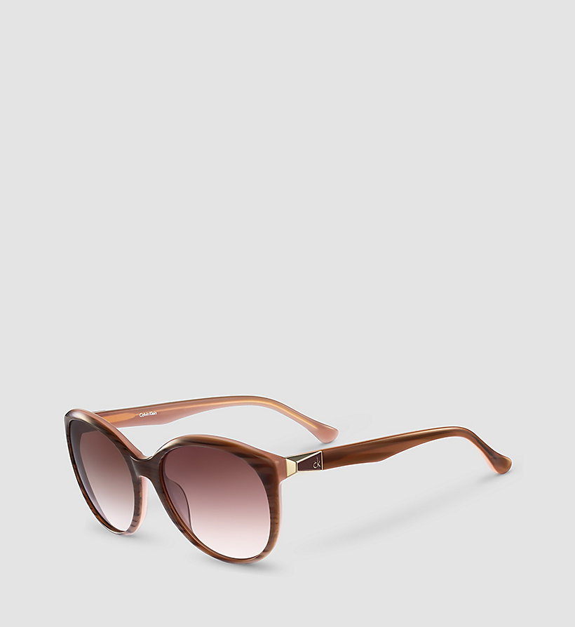 CALVINKLEIN Round Sunglasses CK4291S - STRIPED BROWN ROSE/GRAD ROSE - CALVIN KLEIN SHOES & ACCESSORIES - main image