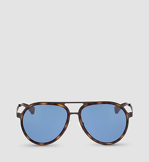 Aviator Sunglasses CKJ135S - WARM TORTOISE/SOLID BLUE - CK JEANS  - detail image 1