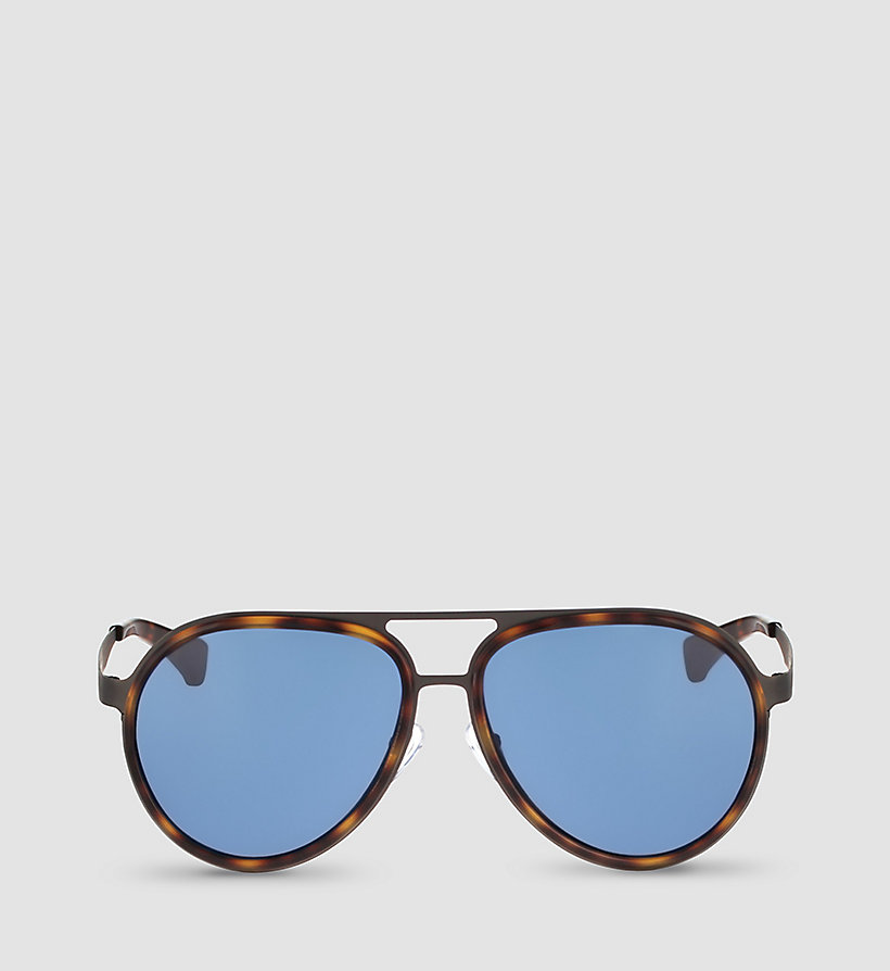 CKJEANS Aviator Sunglasses CKJ135S - WARM TORTOISE/SOLID BLUE - CK JEANS SHOES & ACCESSORIES - detail image 1