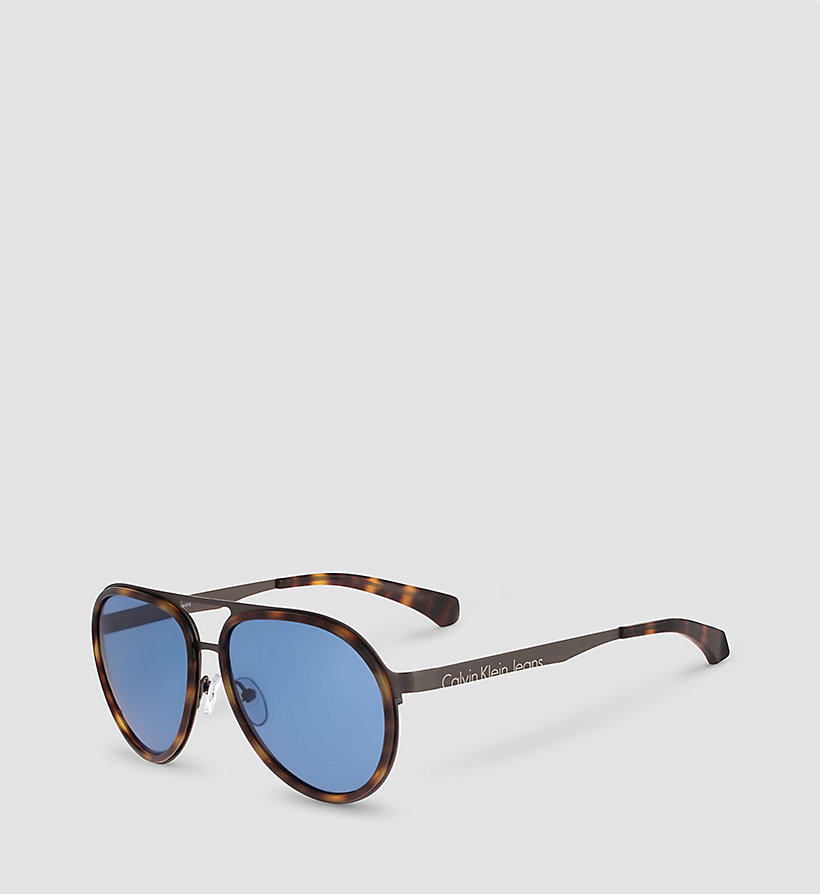 CKJEANS Aviator Sunglasses CKJ135S - WARM TORTOISE/SOLID BLUE - CK JEANS SHOES & ACCESSORIES - main image