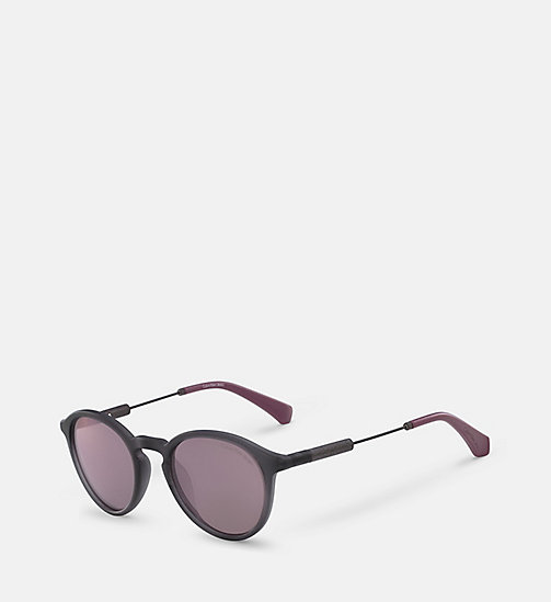 CKJEANS Round Sunglasses CKJ489S - MATTE CRYSTAL - CK JEANS SHOES & ACCESSORIES - detail image 1