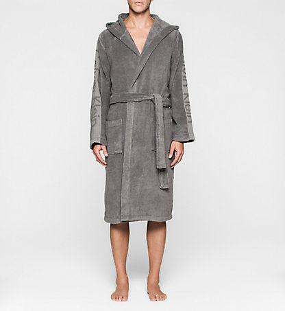 CALVIN KLEIN Hooded Bathrobe 000EM1157E5GS
