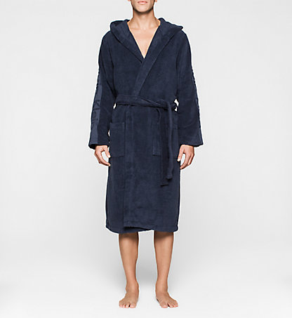 CALVIN KLEIN Hooded Bathrobe 000EM1157E8SB