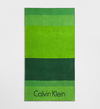 CALVIN KLEIN Colorblock Beach Towel 000H854199EVE
