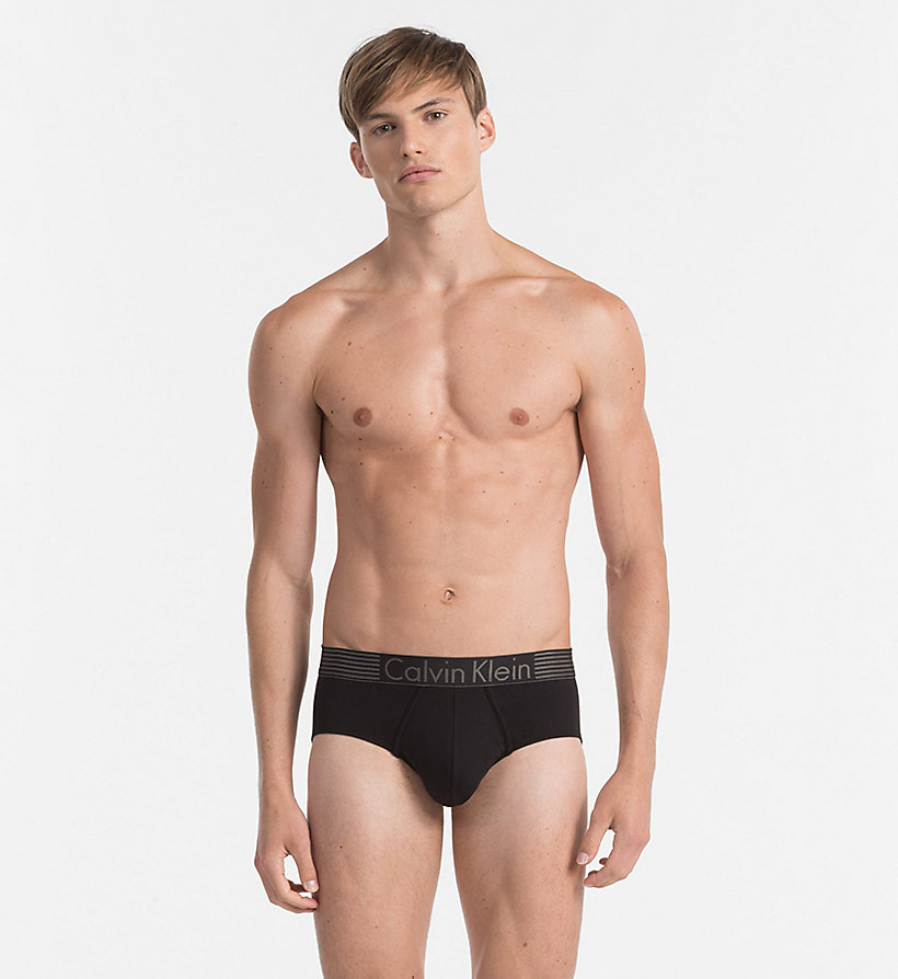 CALVINKLEIN Hip Briefs - Iron Strength - BLACK - CALVIN KLEIN UNDERWEAR - main image