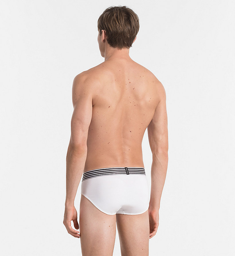 CALVINKLEIN Hip Briefs - Iron Strength - WHITE - CALVIN KLEIN UNDERWEAR - detail image 1