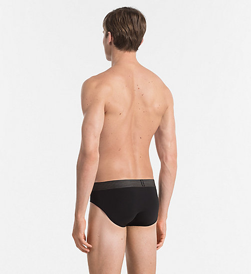 CALVINKLEIN Hip Briefs - Iron Strength - BLACK - CALVIN KLEIN MEN - detail image 1