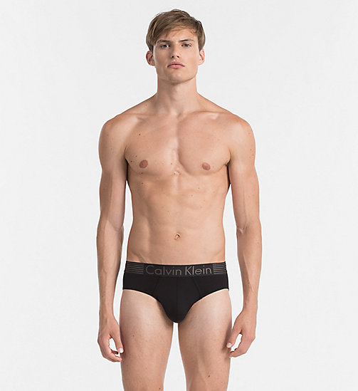 CALVINKLEIN Hip Briefs - Iron Strength - BLACK - CALVIN KLEIN BRIEFS - main image