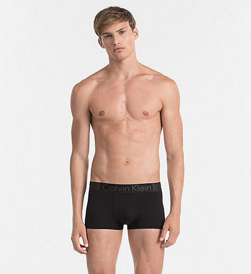 CALVINKLEIN Low Rise Trunks - Iron Strength - BLACK - CALVIN KLEIN TRUNKS - main image