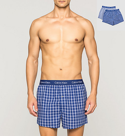 CALVINKLEIN 2 Pack Slim Fit Boxers - MARTIN CHECK-OLDEN CHECK/DARK - CALVIN KLEIN Up to 50% - main image