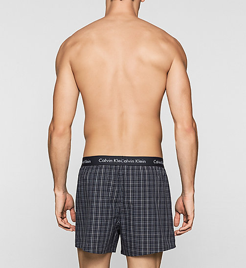 CALVINKLEIN 2 Pack Boxers - JUNIPER PLAID-CLIFF STRIPE/CA - CALVIN KLEIN MULTIPACKS - detail image 1