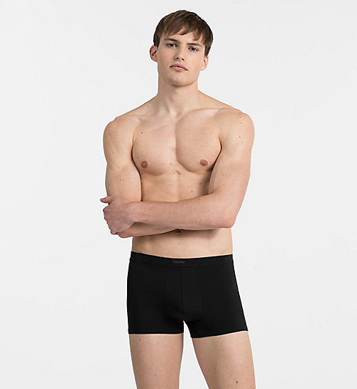 CALVINKLEIN Trunks - Pima Cotton - BLACK - CALVIN KLEIN MEN - main image