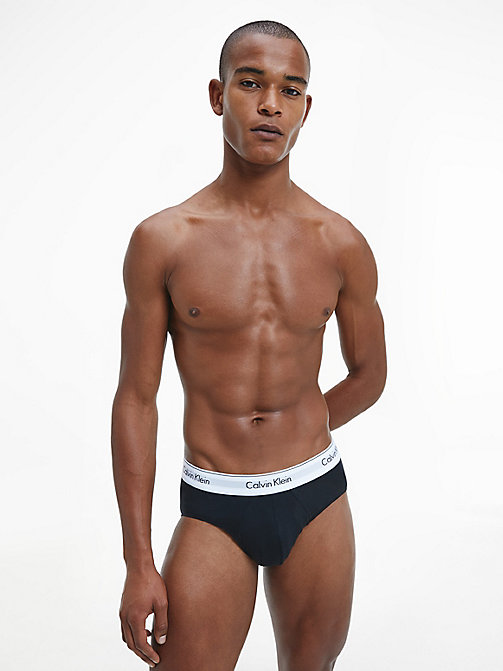 CALVINKLEIN 2 Pack Hip Briefs - Modern Cotton - BLACK / PRUSSIAN - CALVIN KLEIN MULTIPACKS - detail image 1