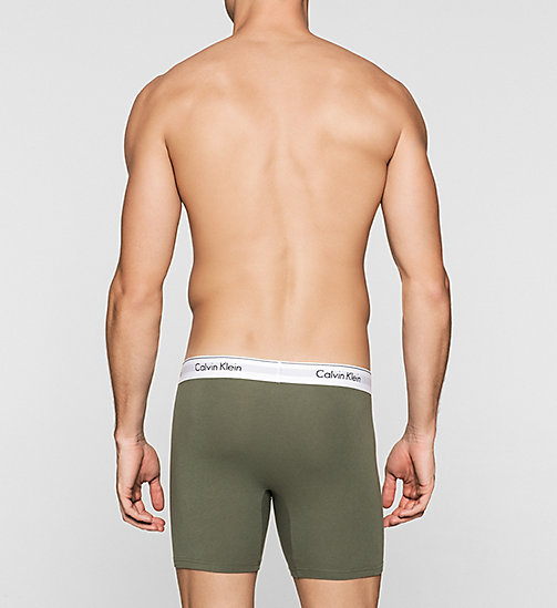 2-pack boxers - Modern Cotton - BLACK / HUNTER - CALVIN KLEIN HEREN - detail image 1