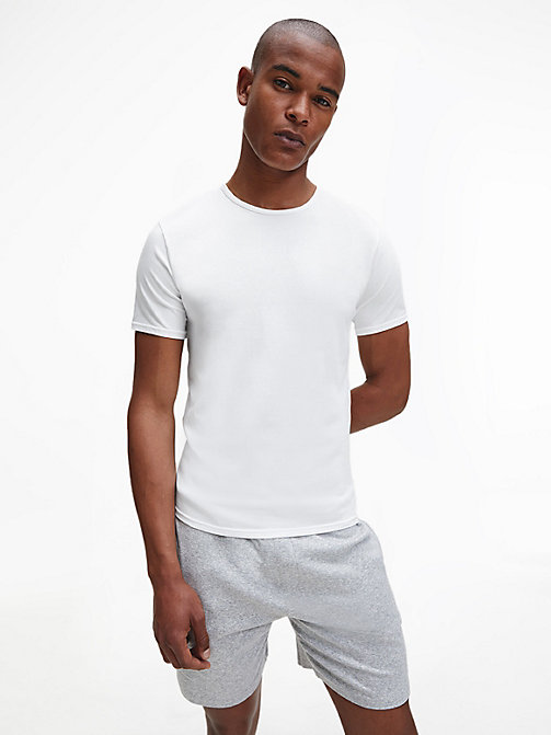 CALVINKLEIN 2 Pack T-shirts - Modern Cotton - WHITE - CALVIN KLEIN NIGHTWEAR & LOUNGEWEAR - main image