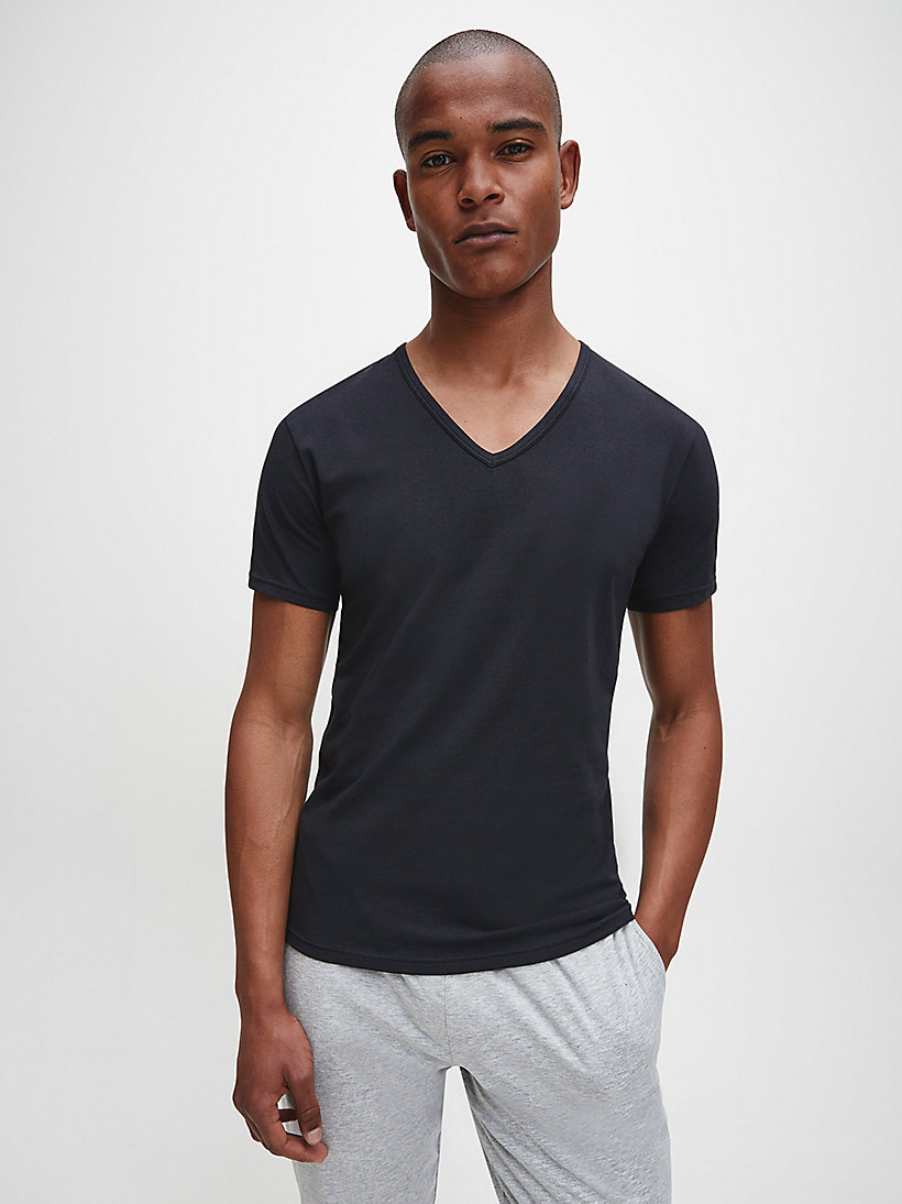 CALVINKLEIN 2 Pack T-shirts - Modern Cotton - BLACK - CALVIN KLEIN MEN - main image