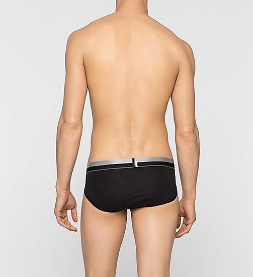 CALVINKLEIN Hip Briefs - Magnetic - BLACK - CALVIN KLEIN MEN - detail image 1
